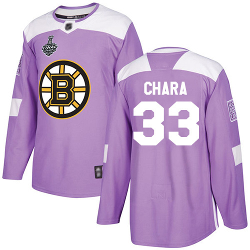 Adidas Bruins #33 Zdeno Chara Purple Authentic Fights Cancer Stanley Cup Final Bound Youth Stitched NHL Jersey