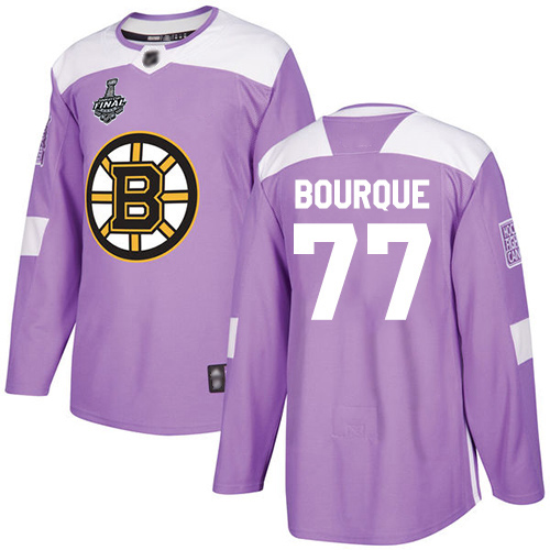 Adidas Bruins #77 Ray Bourque Purple Authentic Fights Cancer Stanley Cup Final Bound Youth Stitched NHL Jersey