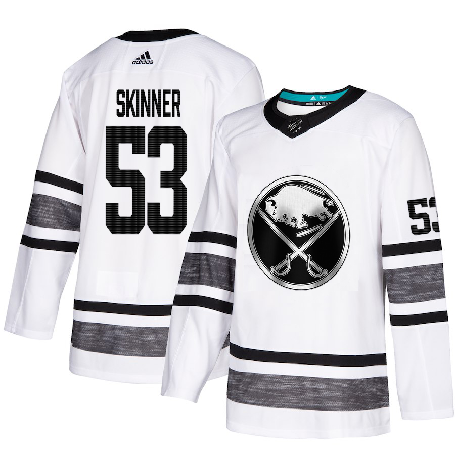 Adidas Sabres #53 Jeff Skinner White Authentic 2019 All-Star Youth Stitched NHL Jersey