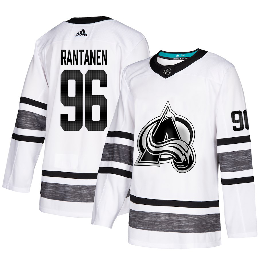 Adidas Avalanche #96 Mikko Rantanen White Authentic 2019 All-Star Stitched Youth NHL Jersey