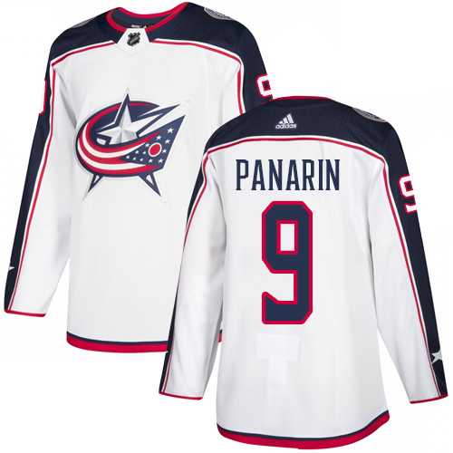 Adidas Blue Jackets #9 Artemi Panarin White Road Authentic Stitched Youth NHL Jersey