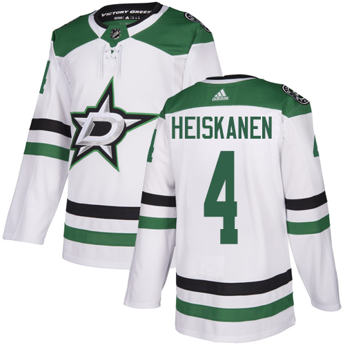 Adidas Stars #4 Miro Heiskanen White Road Authentic Youth Stitched NHL Jersey