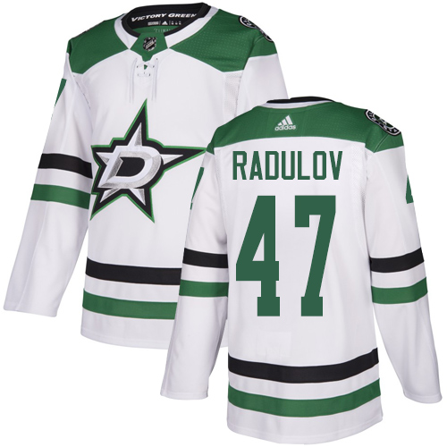 Adidas Stars #47 Alexander Radulov White Road Authentic Youth Stitched NHL Jersey