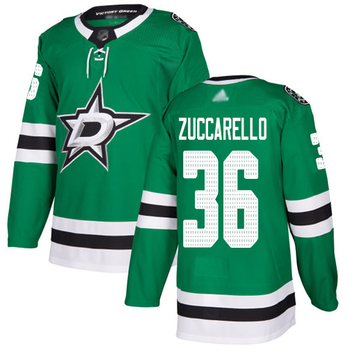 Adidas Stars #36 Mats Zuccarello Green Home Authentic Youth Stitched NHL Jersey