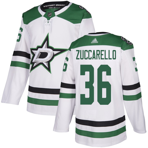 Adidas Stars #36 Mats Zuccarello White Road Authentic Youth Stitched NHL Jersey
