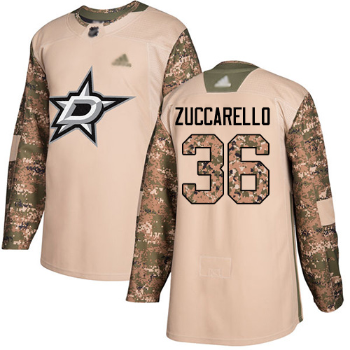 Adidas Stars #36 Mats Zuccarello Camo Authentic 2017 Veterans Day Youth Stitched NHL Jersey