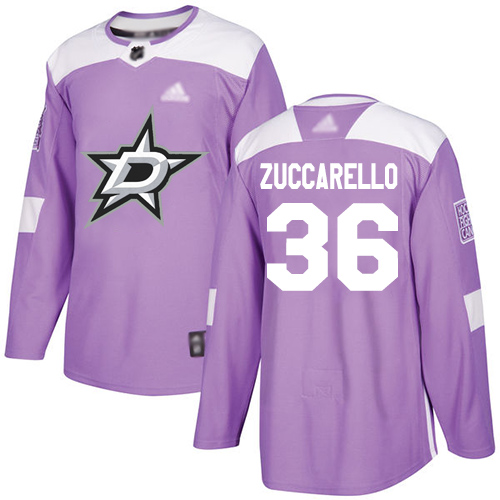 Adidas Stars #36 Mats Zuccarello Purple Authentic Fights Cancer Youth Stitched NHL Jersey