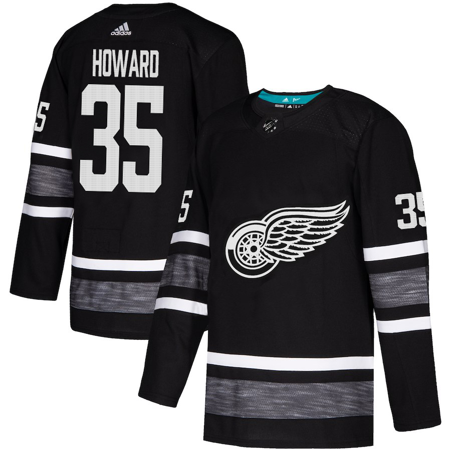Adidas Red Wings #35 Jimmy Howard Black Authentic 2019 All-Star Stitched Youth NHL Jersey