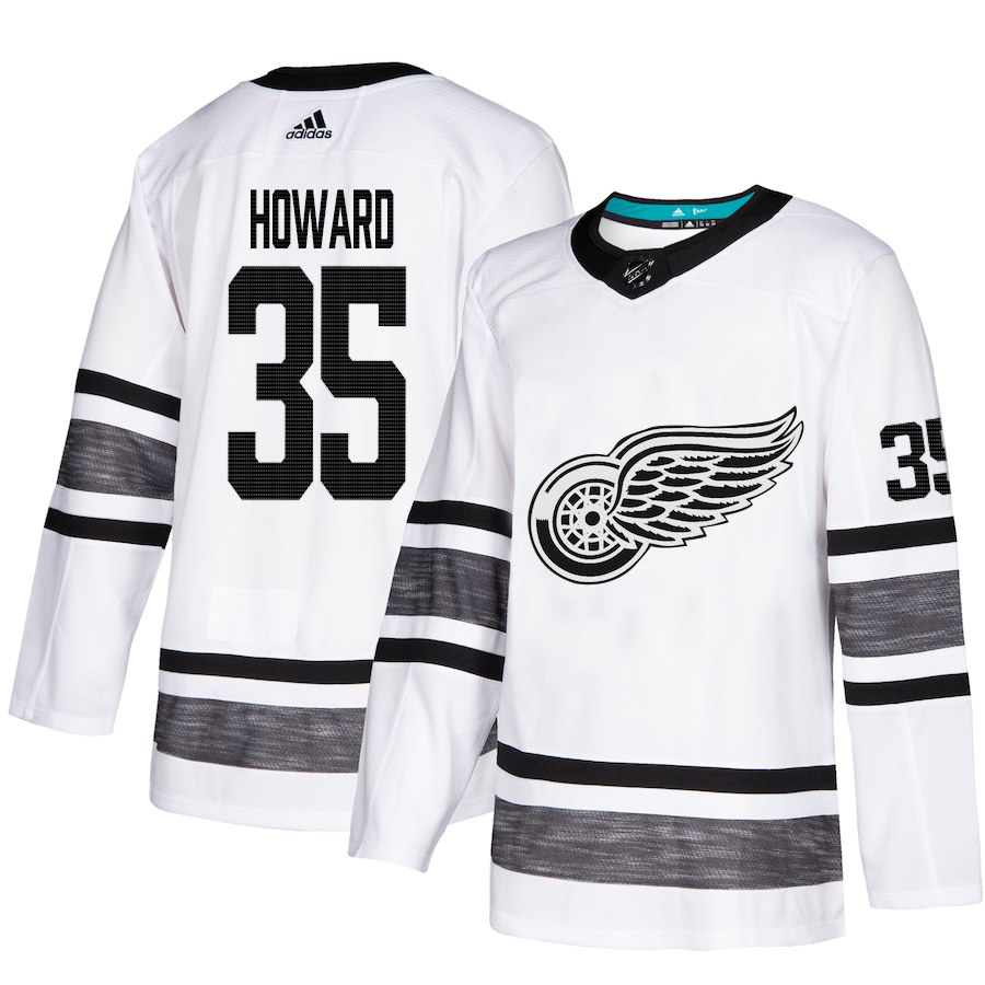 Adidas Red Wings #35 Jimmy Howard White Authentic 2019 All-Star Stitched Youth NHL Jersey