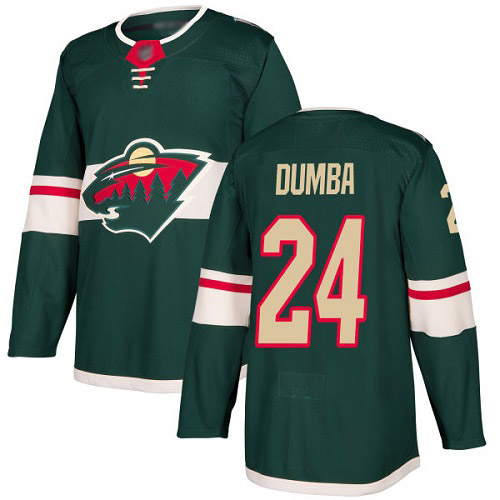 Adidas Wild #24 Matt Dumba Green Home Authentic Stitched Youth NHL Jersey