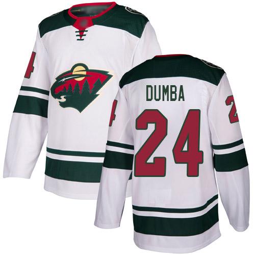 Adidas Wild #24 Matt Dumba White Road Authentic Stitched Youth NHL Jersey