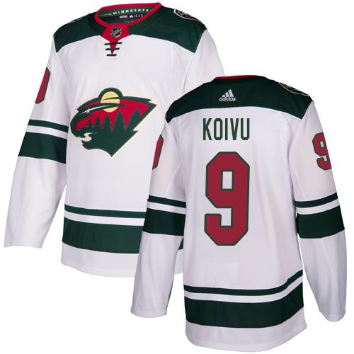 Adidas Wild #9 Mikko Koivu White Road Authentic Stitched Youth NHL Jersey