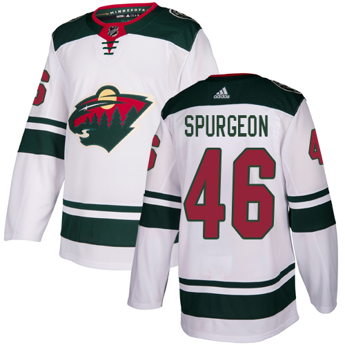 Adidas Wild #46 Jared Spurgeon White Road Authentic Stitched Youth NHL Jersey
