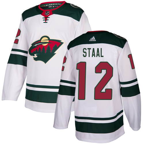 Adidas Wild #12 Eric Staal White Road Authentic Stitched Youth NHL Jersey