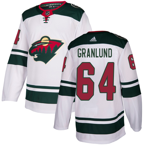 Adidas Wild #64 Mikael Granlund White Road Authentic Stitched Youth NHL Jersey