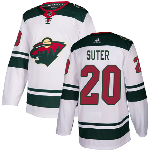 Adidas Wild #20 Ryan Suter White Road Authentic Stitched Youth NHL Jersey