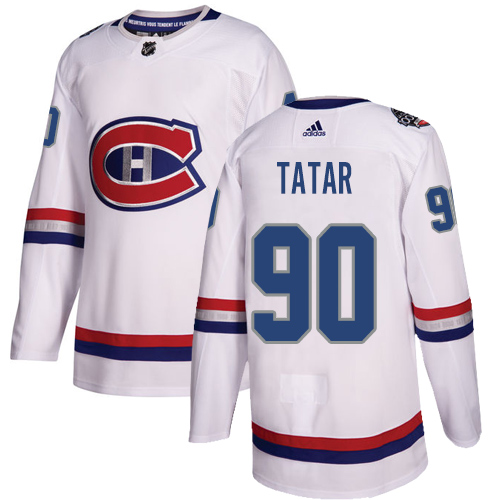 Adidas Canadiens #90 Tomas Tatar White Authentic 2017 100 Classic Stitched Youth NHL Jersey