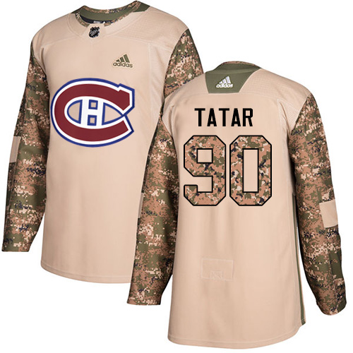 Adidas Canadiens #90 Tomas Tatar Camo Authentic 2017 Veterans Day Stitched Youth NHL Jersey