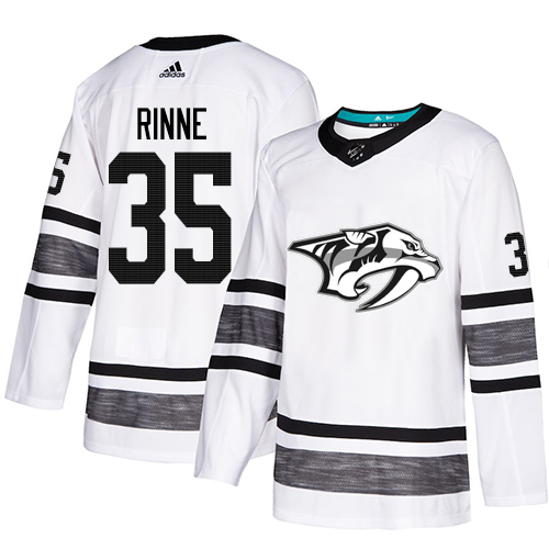 Adidas Predators #35 Pekka Rinne White Authentic 2019 All-Star Stitched Youth NHL Jersey