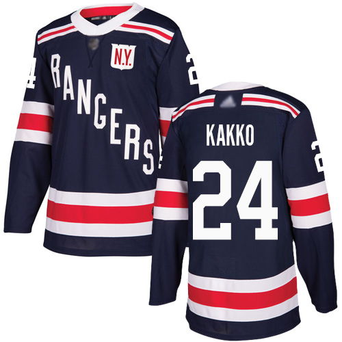 Adidas Rangers #24 Kaapo Kakko Navy Blue Authentic 2018 Winter Classic Stitched Youth NHL Jersey