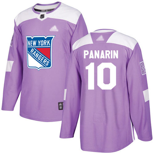 Adidas Rangers #10 Artemi Panarin Purple Authentic Fights Cancer Stitched Youth NHL Jersey