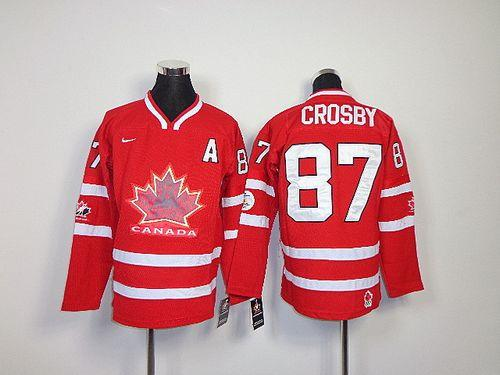Team Canada #87 Sidney Crosby Red Embroidered Youth NHL Jersey