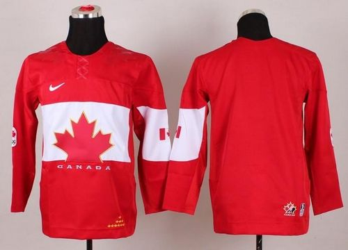 Team Canada 2014 Olympic Blank Red Stitched Youth NHL Jersey