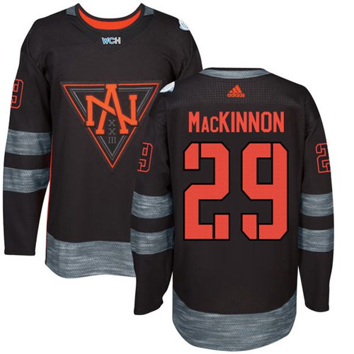 Team North America #29 Nathan MacKinnon Black 2016 World Cup Stitched Youth NHL Jersey