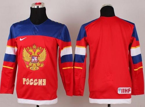 2014 Olympic Team Russia Blank Red Stitched Youth NHL Jersey