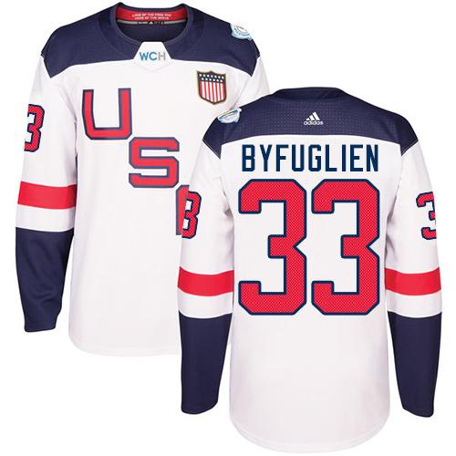 Team USA #33 Dustin Byfuglien White 2016 World Cup Stitched Youth NHL Jersey