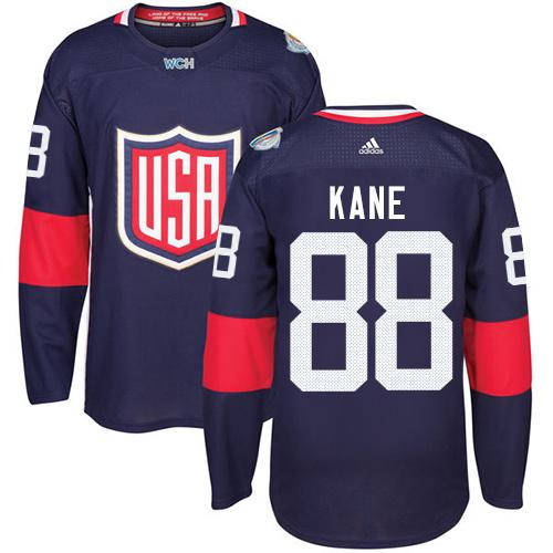 Team USA #88 Patrick Kane Navy Blue 2016 World Cup Stitched Youth NHL Jersey