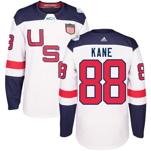 Team USA #88 Patrick Kane White 2016 World Cup Stitched Youth NHL Jersey