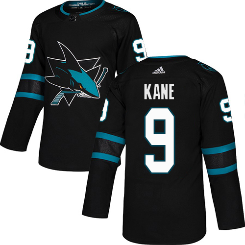 Adidas Sharks #9 Evander Kane Black Alternate Authentic Stitched Youth NHL Jersey