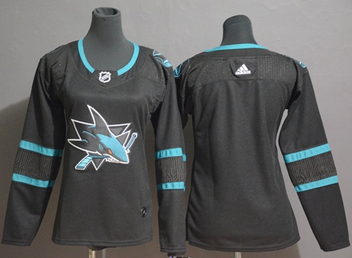Adidas Sharks Blank Black Alternate Authentic Stitched Youth NHL Jersey