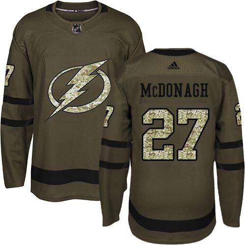 Adidas Lightning #27 Ryan McDonagh Green Salute to Service Stitched Youth NHL Jersey