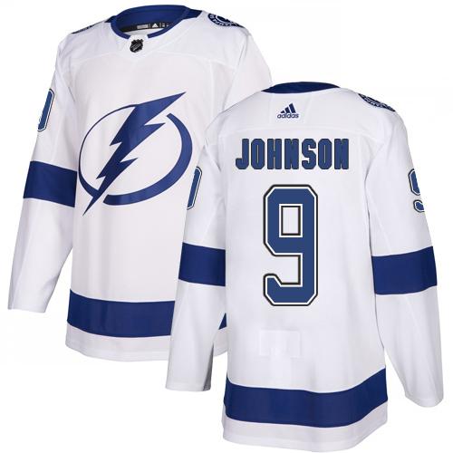 Adidas Lightning #9 Tyler Johnson White Road Authentic Stitched Youth NHL Jersey