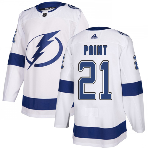 Adidas Lightning #21 Brayden Point White Road Authentic Stitched Youth NHL Jersey
