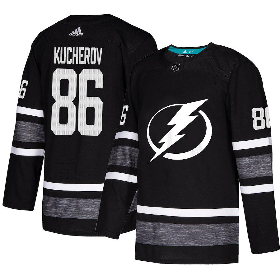 Adidas Lightning #86 Nikita Kucherov Black Authentic 2019 All-Star Stitched Youth NHL Jersey