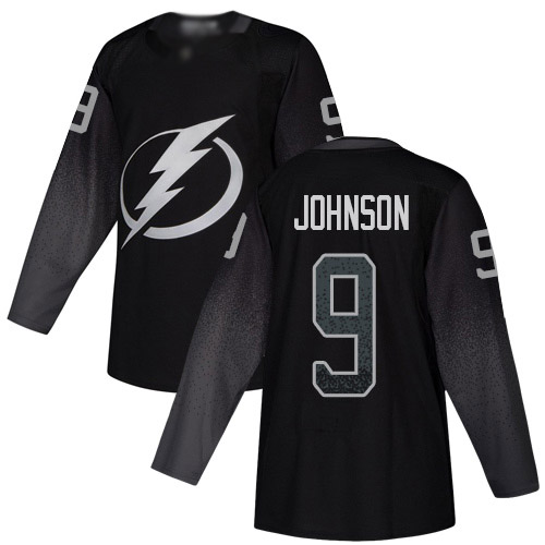Adidas Lightning #9 Tyler Johnson Black Alternate Authentic Stitched Youth NHL Jersey