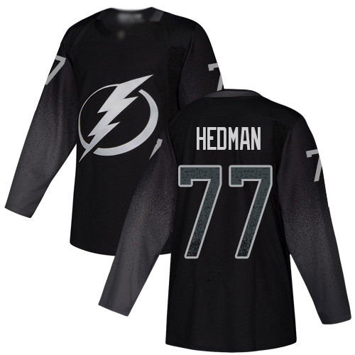 Adidas Lightning #77 Victor Hedman Black Alternate Authentic Stitched Youth NHL Jersey
