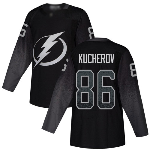 Adidas Lightning #86 Nikita Kucherov Black Alternate Authentic Stitched Youth NHL Jersey