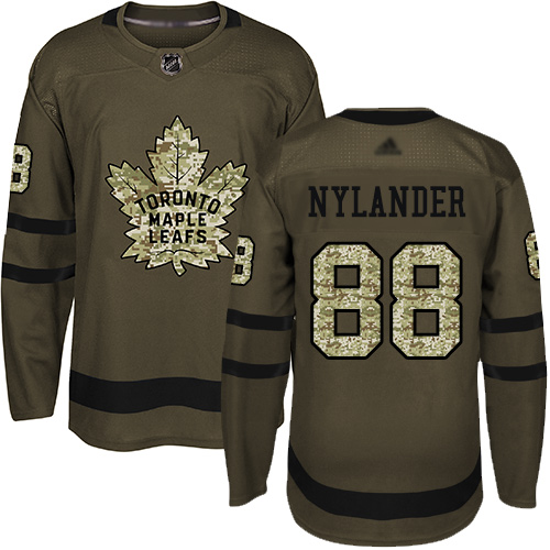 Adidas Maple Leafs #88 William Nylander Green Salute to Service Stitched Youth NHL Jersey