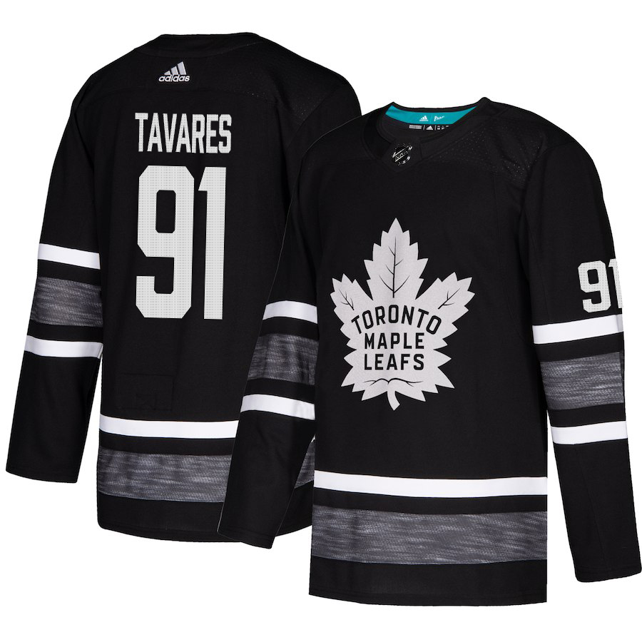 Adidas Maple Leafs #91 John Tavares Black Authentic 2019 All-Star Stitched Youth NHL Jersey