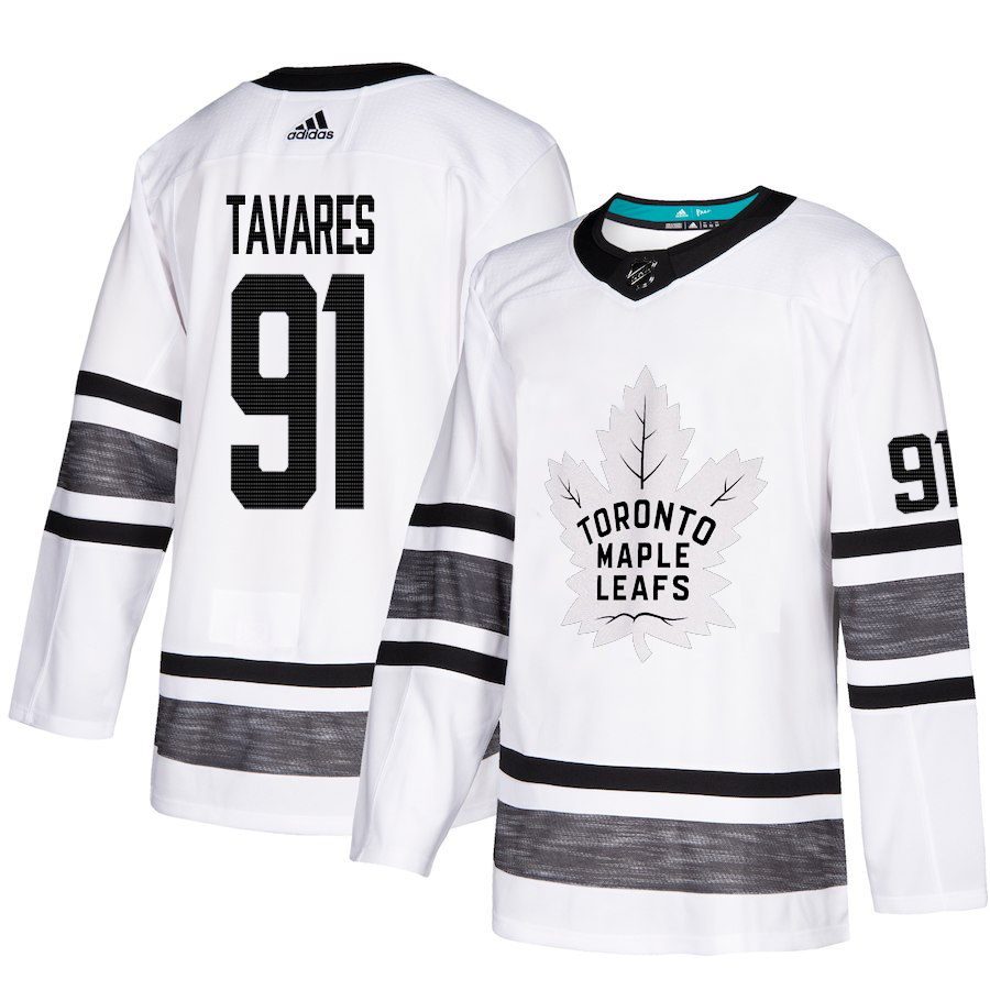 Adidas Maple Leafs #91 John Tavares White Authentic 2019 All-Star Stitched Youth NHL Jersey