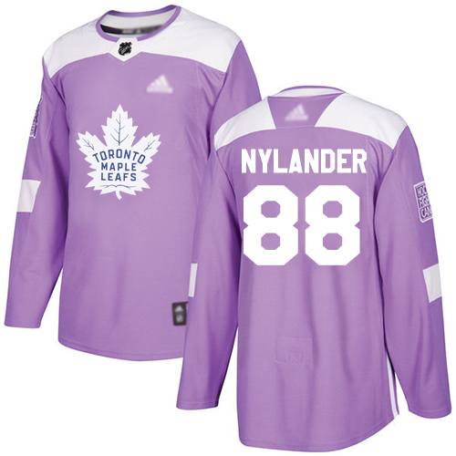 Adidas Maple Leafs #88 William Nylander Purple Authentic Fights Cancer Stitched Youth NHL Jersey
