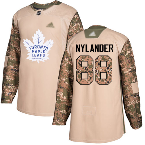 Adidas Maple Leafs #88 William Nylander Camo Authentic 2017 Veterans Day Stitched Youth NHL Jersey