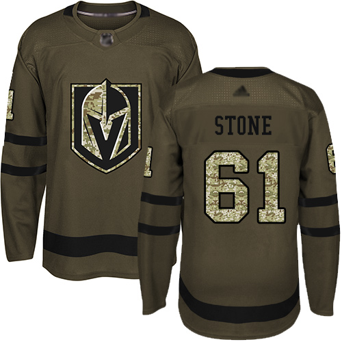 Adidas Golden Knights #61 Mark Stone Green Salute to Service Stitched Youth NHL Jersey