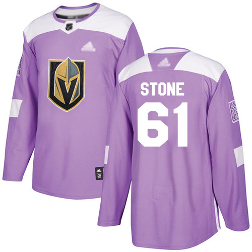 Adidas Golden Knights #61 Mark Stone Purple Authentic Fights Cancer Stitched Youth NHL Jersey