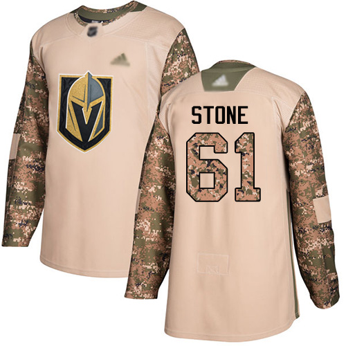 Adidas Golden Knights #61 Mark Stone Camo Authentic 2017 Veterans Day Stitched Youth NHL Jersey