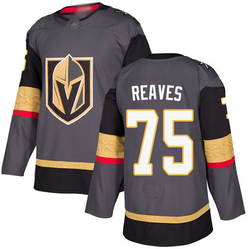 Adidas Golden Knights #75 Ryan Reaves Grey Home Authentic Stitched Youth NHL Jersey